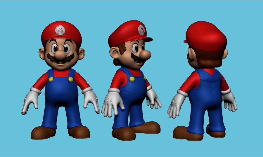 Mario i Yoshi royalty-free 3d model - Preview no. 2