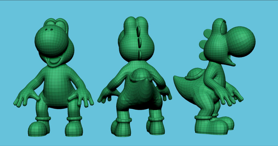 Mario i Yoshi royalty-free 3d model - Preview no. 5