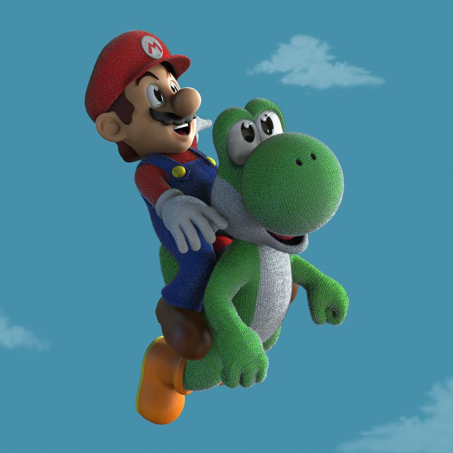 Mario i Yoshi royalty-free 3d model - Preview no. 1