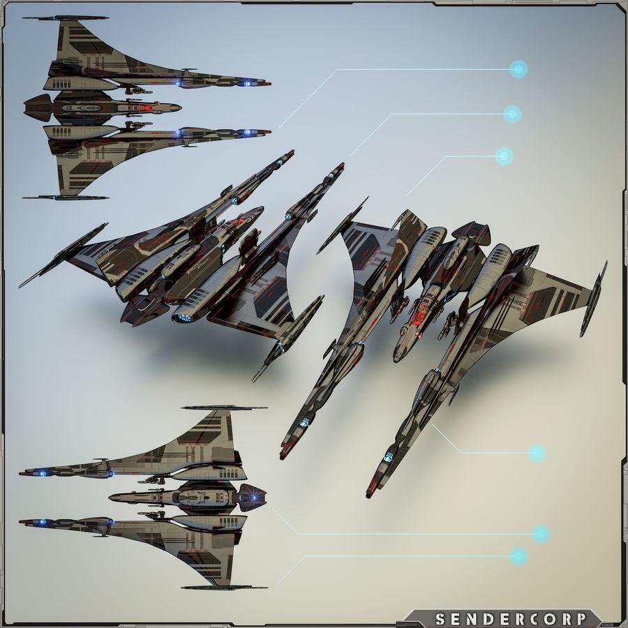Gunship royalty-free 3d model - Preview no. 1