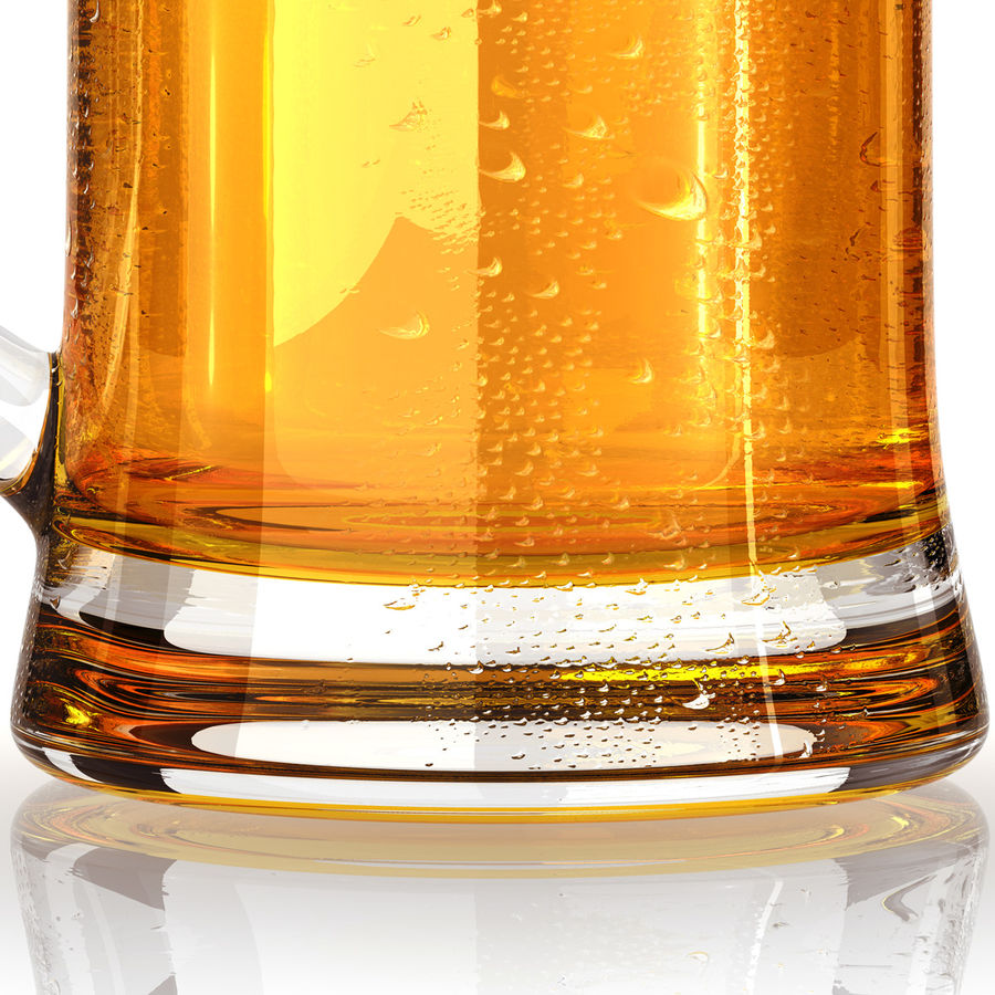 Vaso de cerveza royalty-free modelo 3d - Preview no. 12