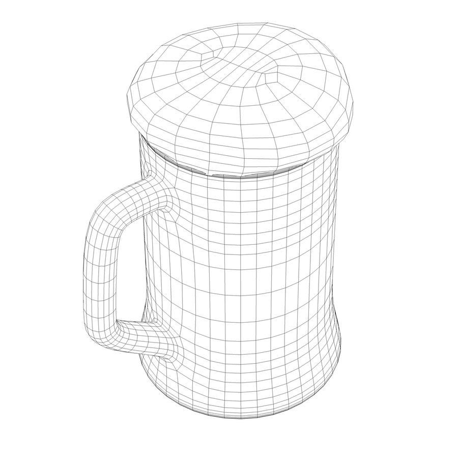 Vaso de cerveza royalty-free modelo 3d - Preview no. 16