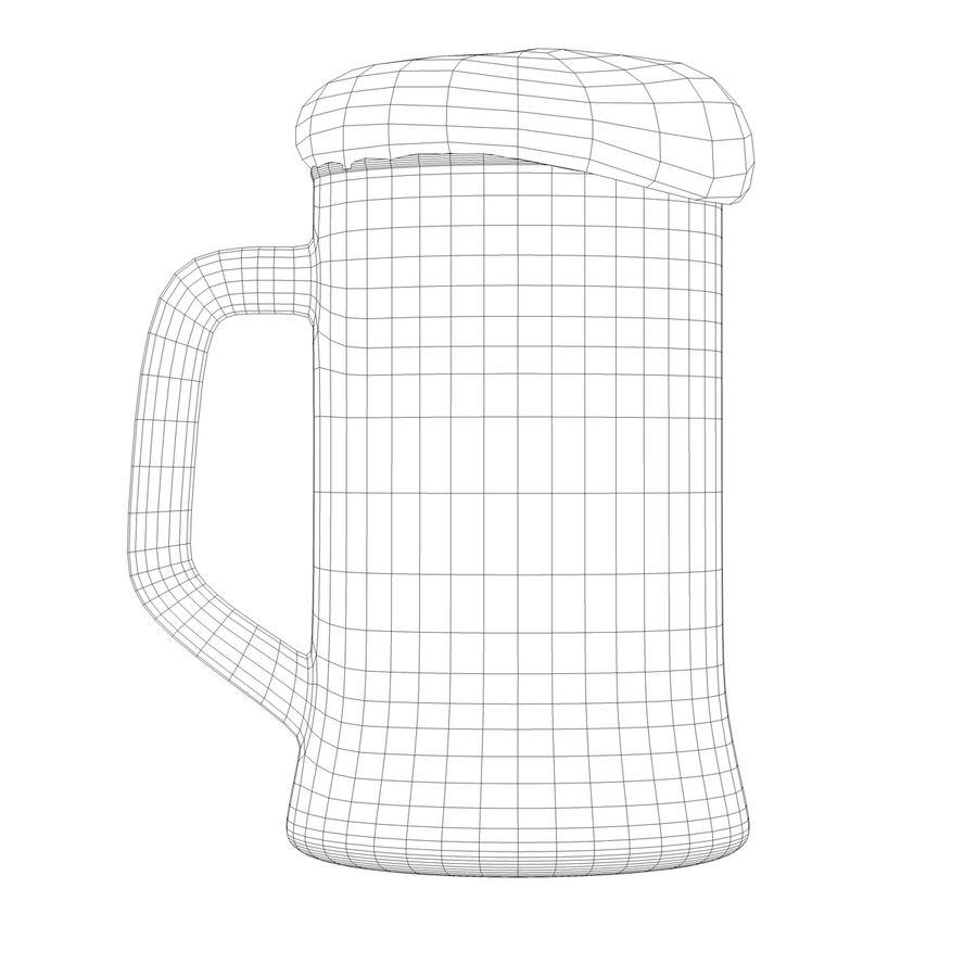 Vaso de cerveza royalty-free modelo 3d - Preview no. 15