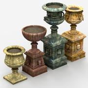 Pots de fleurs 3d model