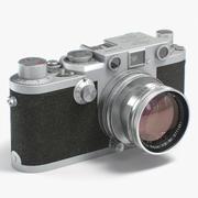 Macchina fotografica retrò Leica IIIf 3d model