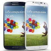 Samsung I9500 Galaxy S4 Bule And White 3d model