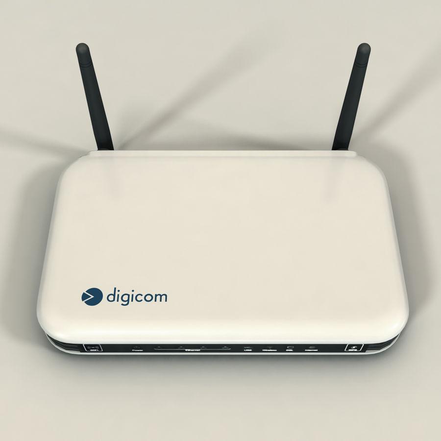 Digicom Modem 8E4496 royalty-free 3d model - Preview no. 3