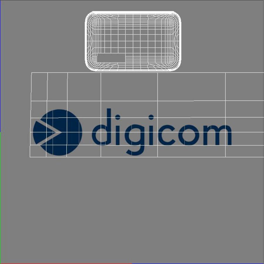 Digicom Modem 8E4496 royalty-free 3d model - Preview no. 13