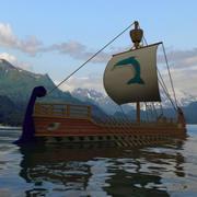 Navio de guerra Odisseu 3d model
