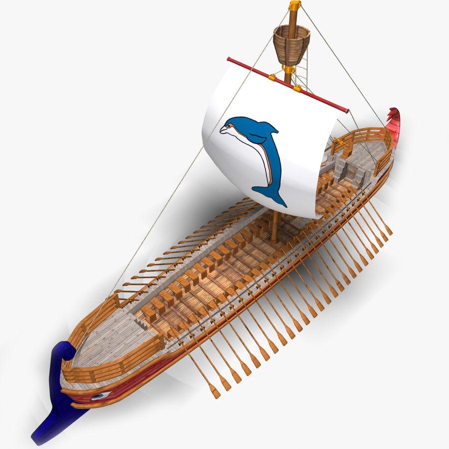 Okręt wojenny Odyseusz royalty-free 3d model - Preview no. 4