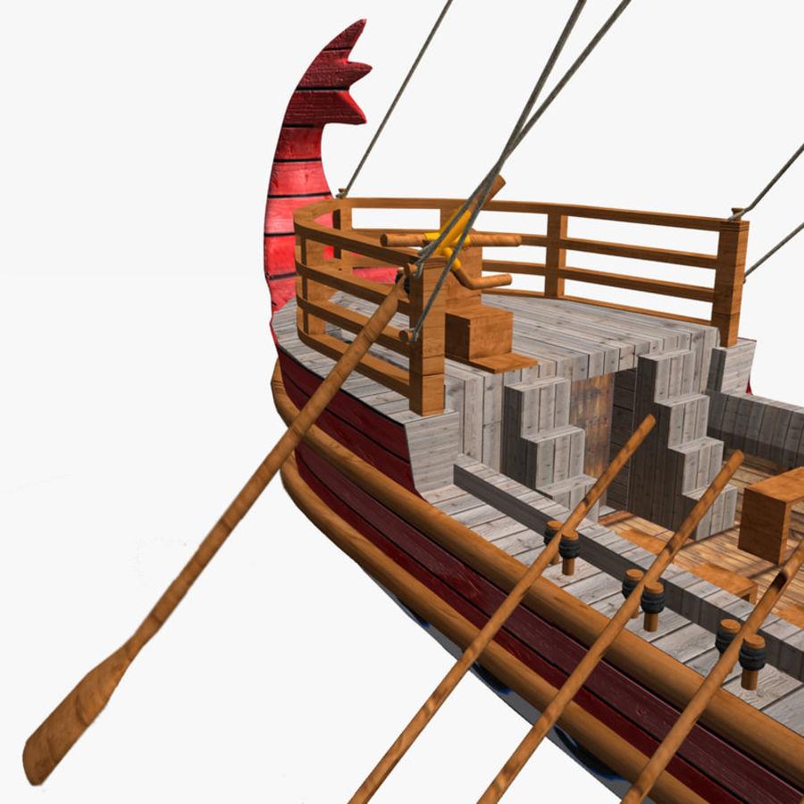 Okręt wojenny Odyseusz royalty-free 3d model - Preview no. 6
