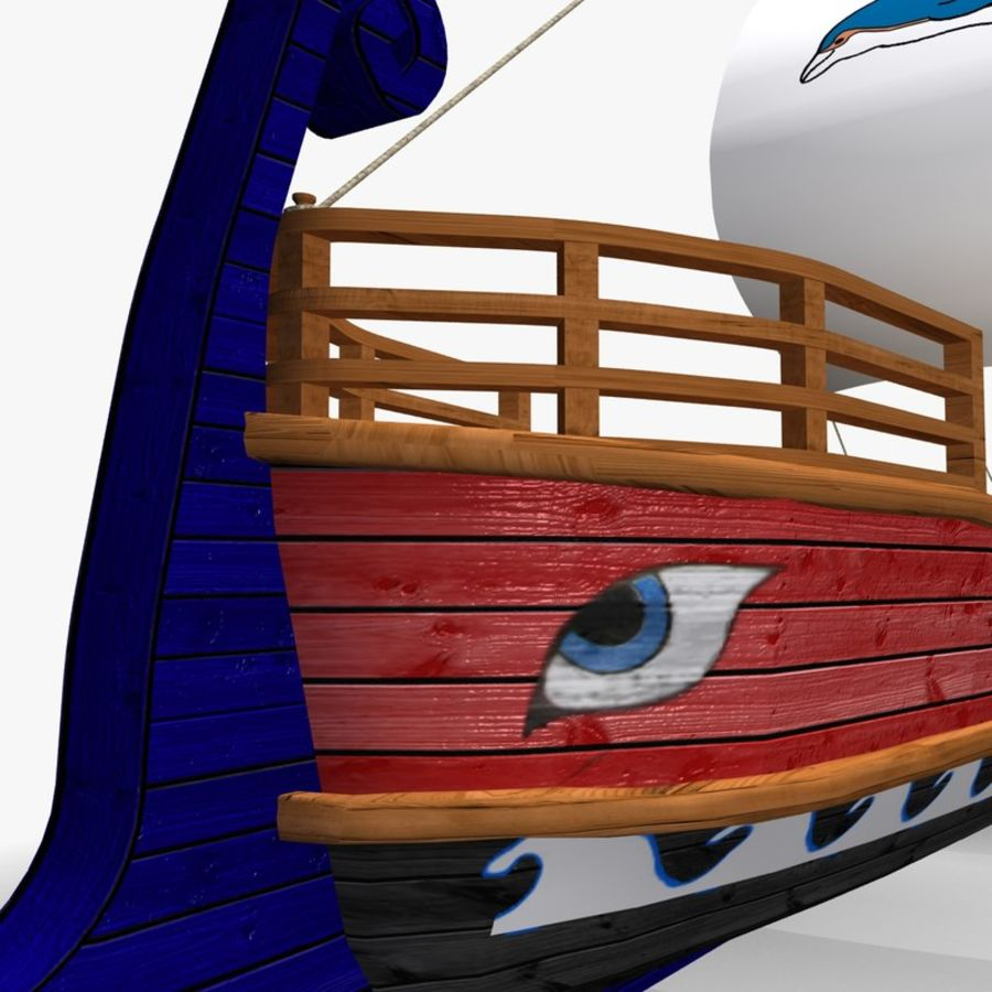 Okręt wojenny Odyseusz royalty-free 3d model - Preview no. 9