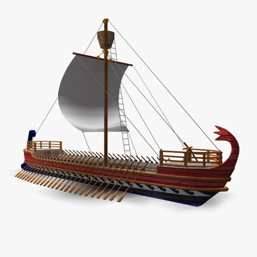 Okręt wojenny Odyseusz royalty-free 3d model - Preview no. 3