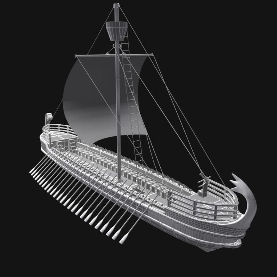 Okręt wojenny Odyseusz royalty-free 3d model - Preview no. 12