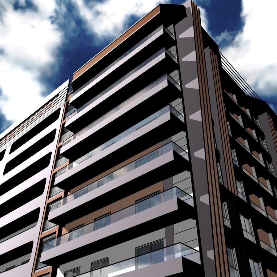 Edificio de la casa de la ciudad 5 royalty-free modelo 3d - Preview no. 17
