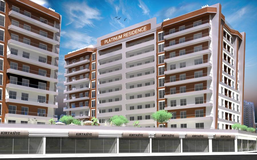 Edificio de la casa de la ciudad 5 royalty-free modelo 3d - Preview no. 8