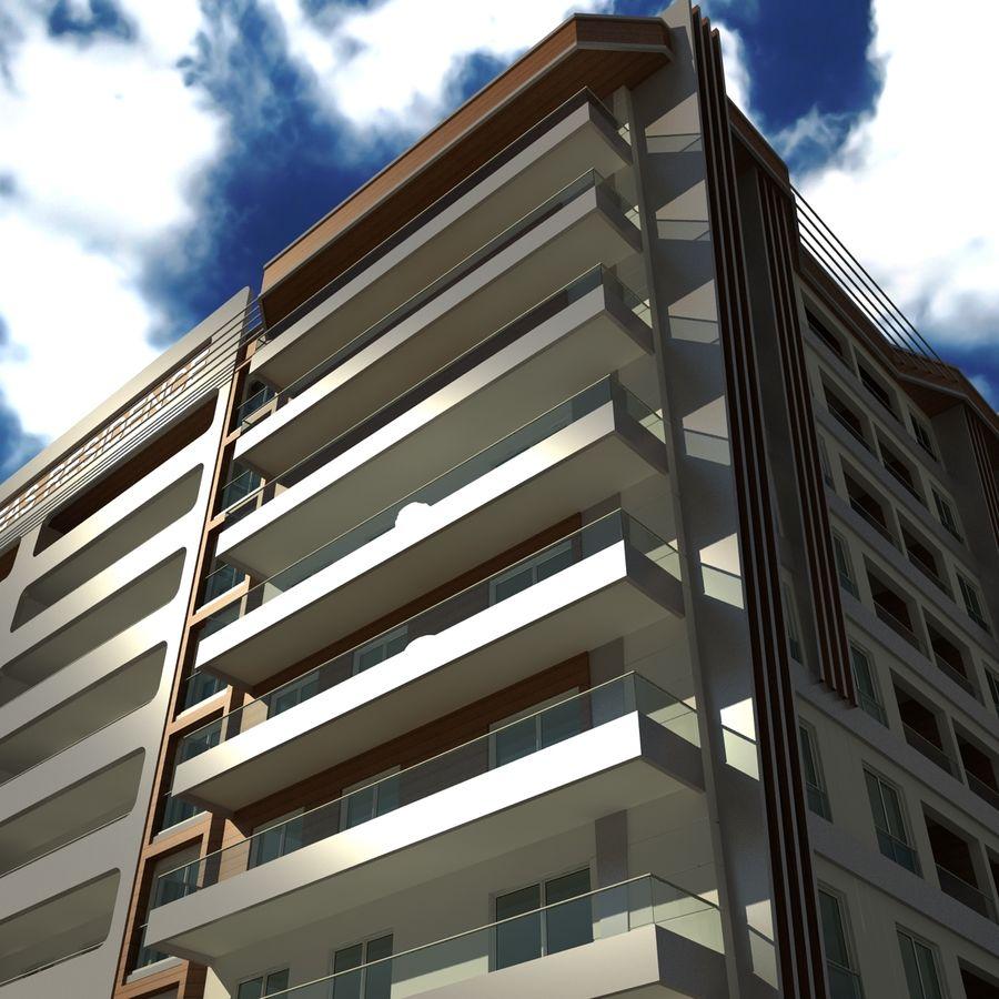 Edificio de la casa de la ciudad 5 royalty-free modelo 3d - Preview no. 5