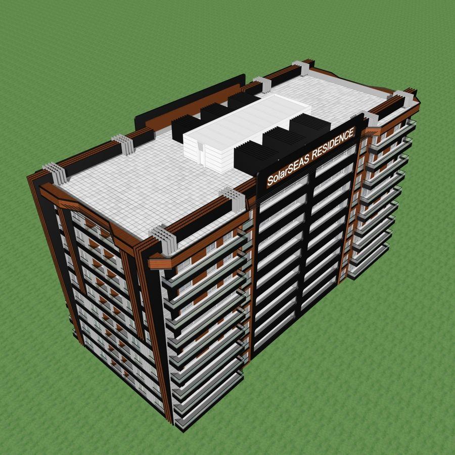 Edificio de la casa de la ciudad 5 royalty-free modelo 3d - Preview no. 16