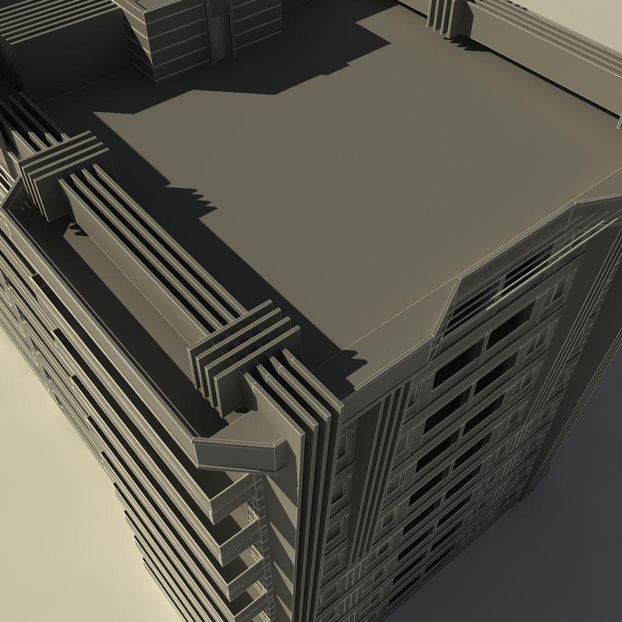 Edificio de la casa de la ciudad 5 royalty-free modelo 3d - Preview no. 13