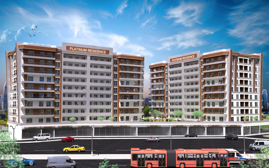 Edificio de la casa de la ciudad 5 royalty-free modelo 3d - Preview no. 7