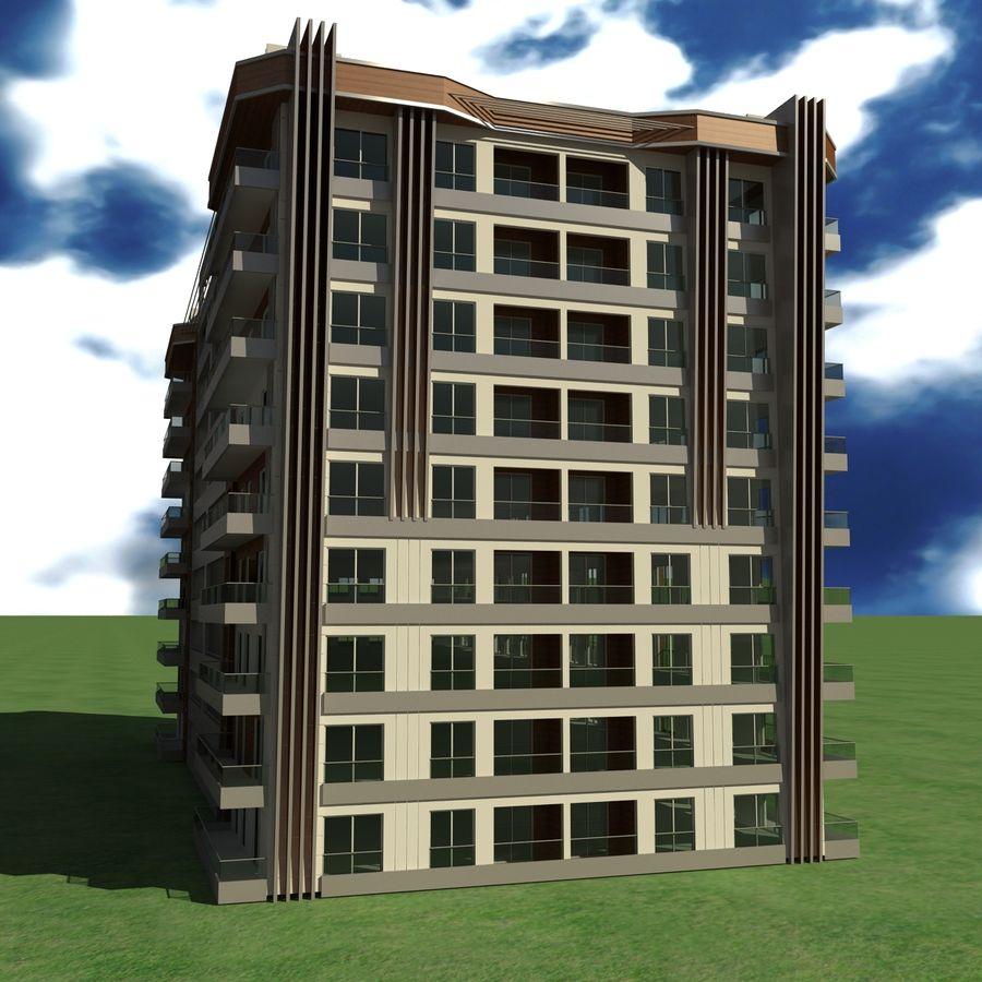 Edificio de la casa de la ciudad 5 royalty-free modelo 3d - Preview no. 3