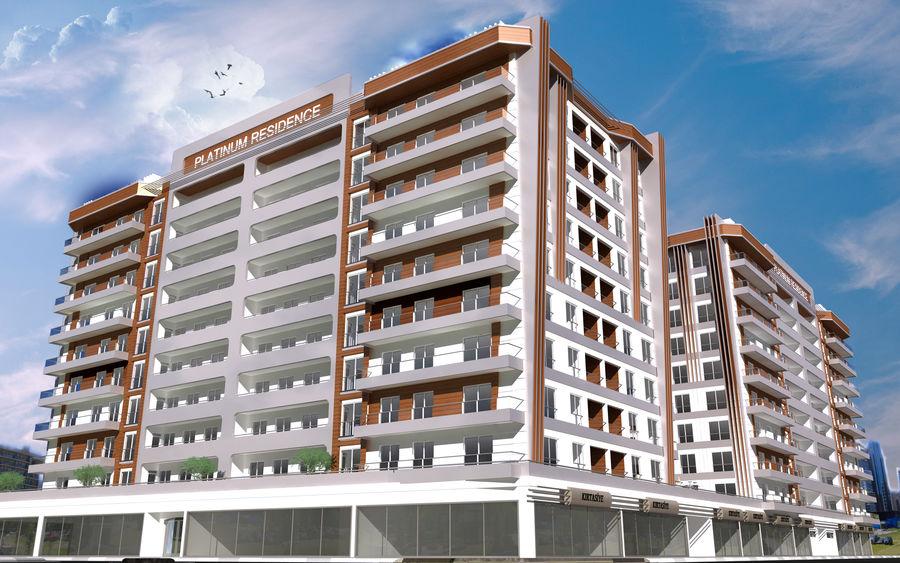 Edificio de la casa de la ciudad 5 royalty-free modelo 3d - Preview no. 10