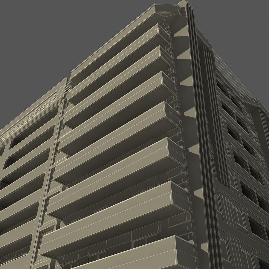 Edificio de la casa de la ciudad 5 royalty-free modelo 3d - Preview no. 12