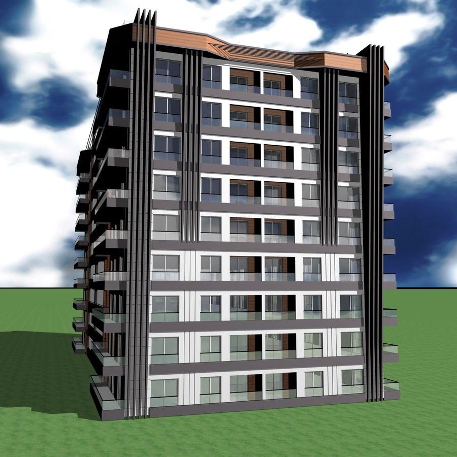 Edificio de la casa de la ciudad 5 royalty-free modelo 3d - Preview no. 15