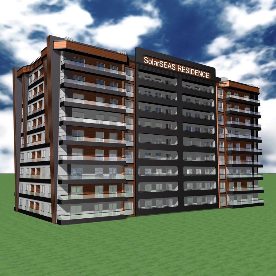 Edificio de la casa de la ciudad 5 royalty-free modelo 3d - Preview no. 14