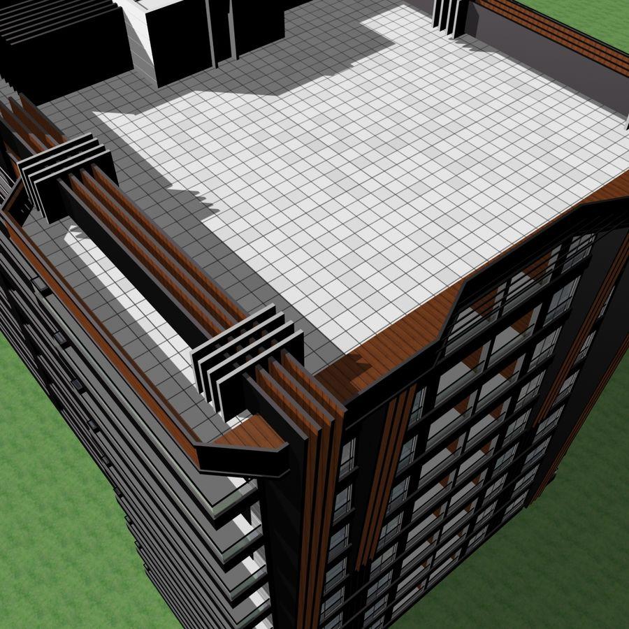 Edificio de la casa de la ciudad 5 royalty-free modelo 3d - Preview no. 18