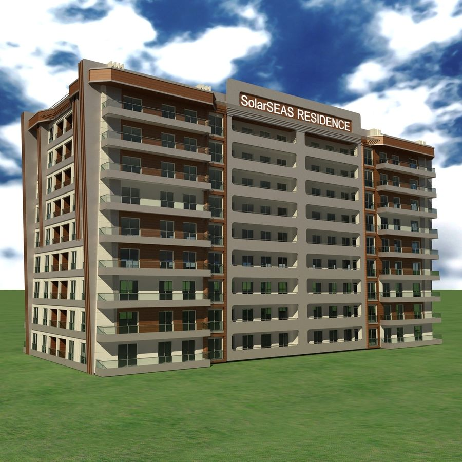Edificio de la casa de la ciudad 5 royalty-free modelo 3d - Preview no. 1