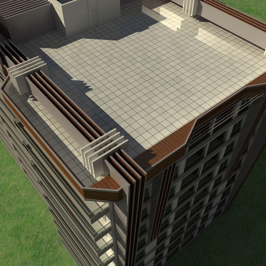 Edificio de la casa de la ciudad 5 royalty-free modelo 3d - Preview no. 6