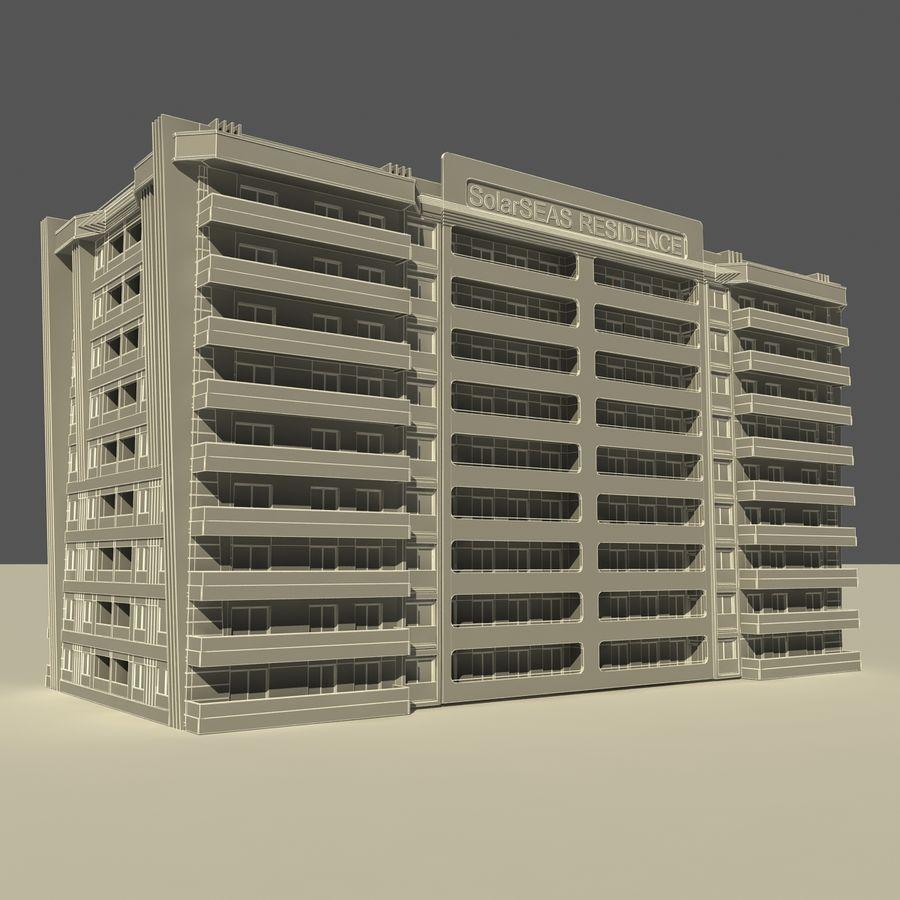 Edificio de la casa de la ciudad 5 royalty-free modelo 3d - Preview no. 11