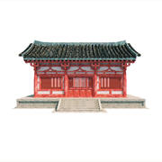中国の建物 3d model