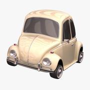 폭스 바겐 비틀 툰 자동차 3d model