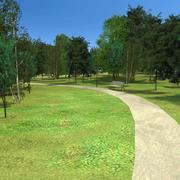 公园林木 3d model