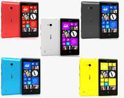 Nokia Lumia 720 All Colurs 3d model