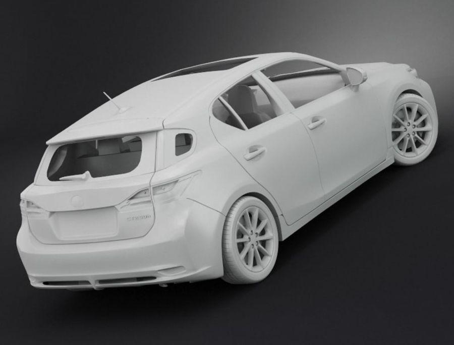 レクサスCT 200h royalty-free 3d model - Preview no. 7