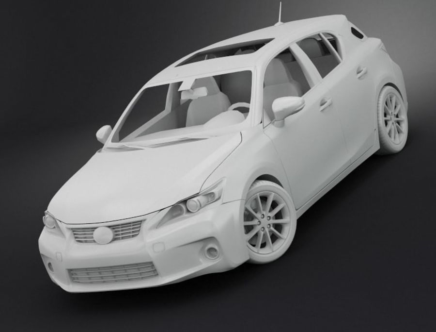 レクサスCT 200h royalty-free 3d model - Preview no. 6