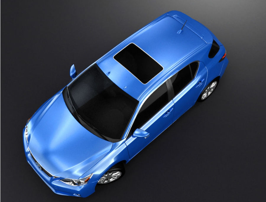 レクサスCT 200h royalty-free 3d model - Preview no. 5