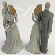 Hochzeitstorte Topper 3d model