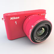 Nikon 1 J2 HD Digital kamera Röd 3d model