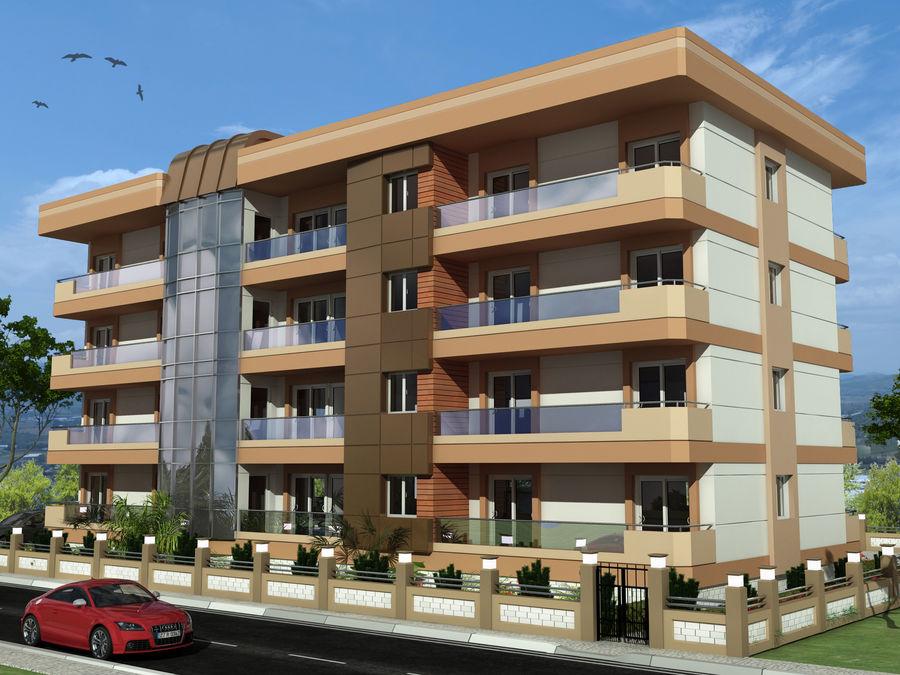 Edificio de la casa de la ciudad 6 royalty-free modelo 3d - Preview no. 1