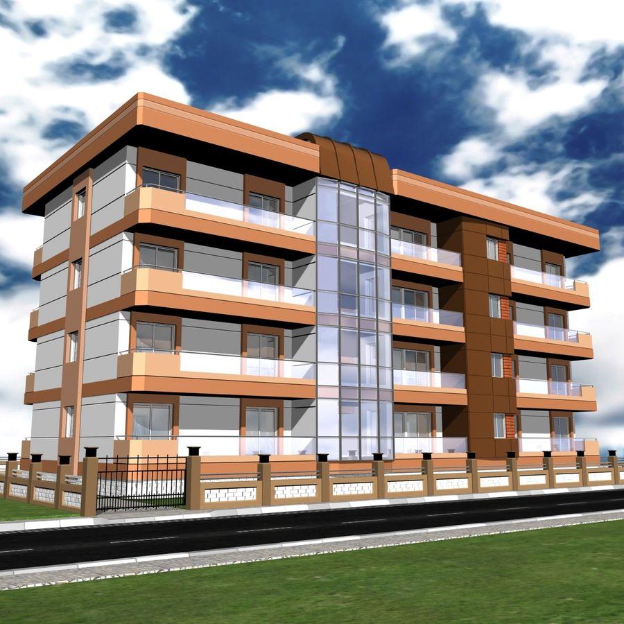 Edificio de la casa de la ciudad 6 royalty-free modelo 3d - Preview no. 16