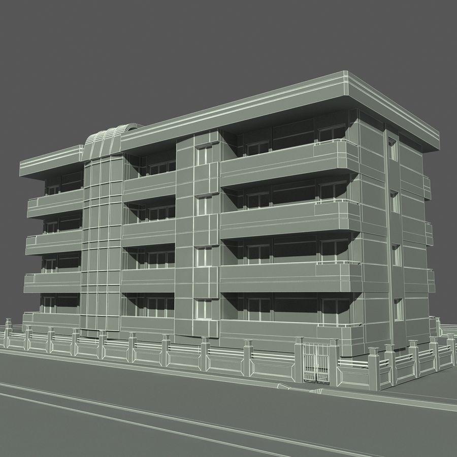 Edificio de la casa de la ciudad 6 royalty-free modelo 3d - Preview no. 11