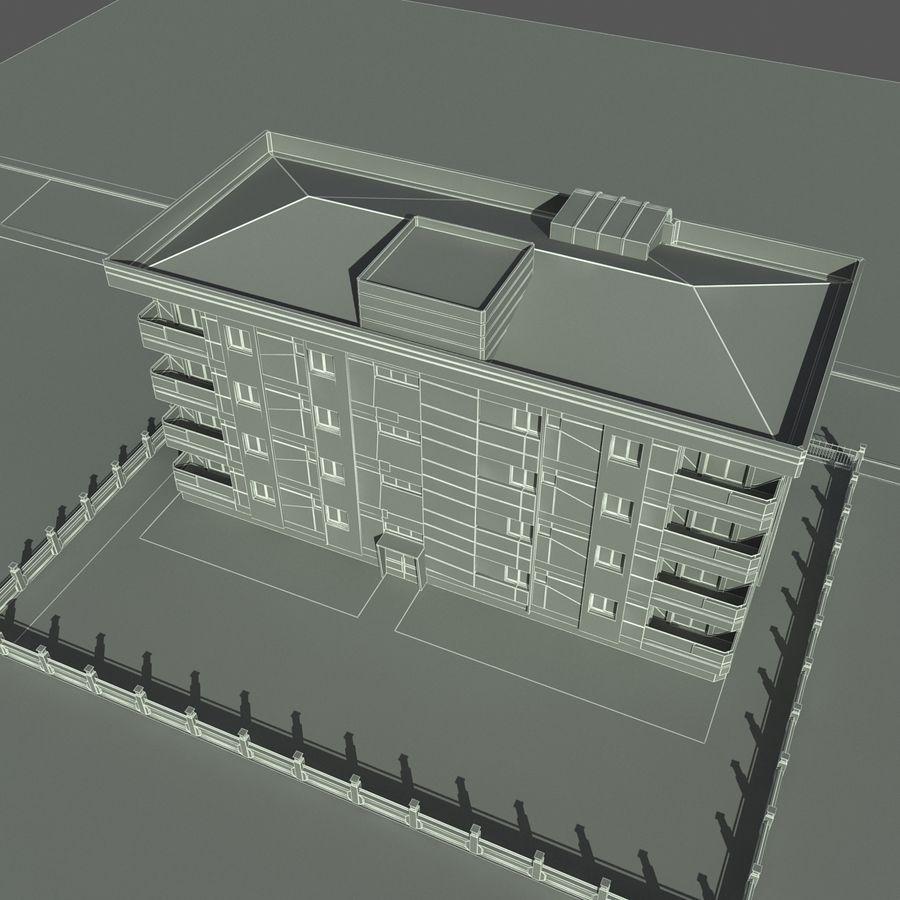 Edificio de la casa de la ciudad 6 royalty-free modelo 3d - Preview no. 12