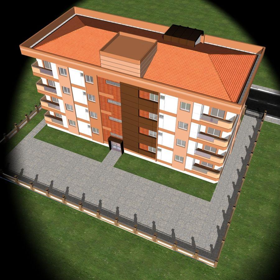 Edificio de la casa de la ciudad 6 royalty-free modelo 3d - Preview no. 18