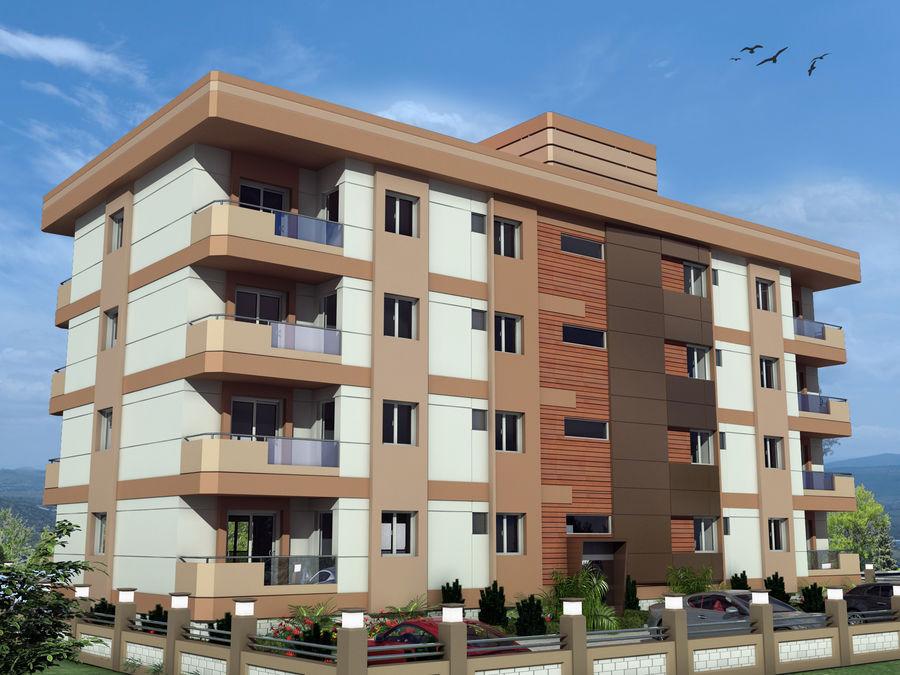 Edificio de la casa de la ciudad 6 royalty-free modelo 3d - Preview no. 2