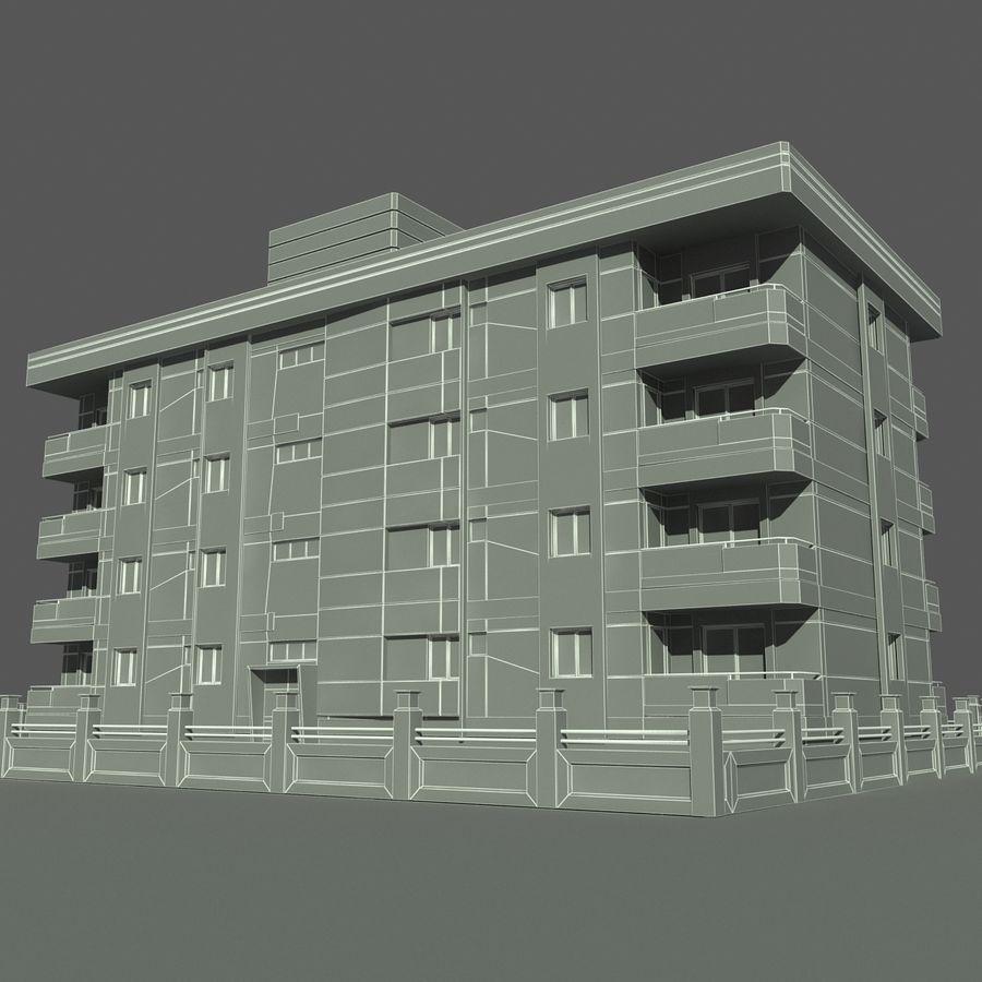 Edificio de la casa de la ciudad 6 royalty-free modelo 3d - Preview no. 13