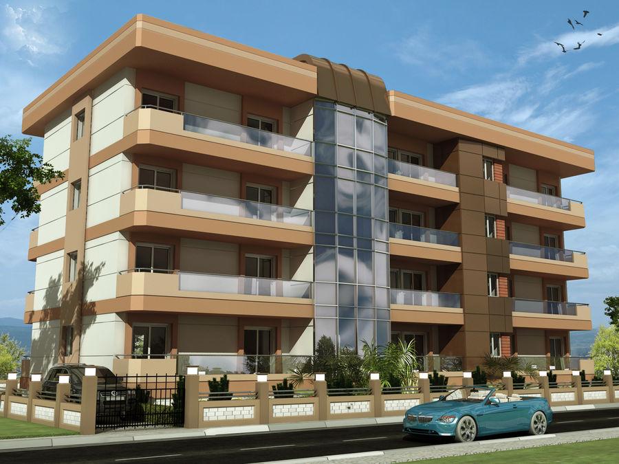Edificio de la casa de la ciudad 6 royalty-free modelo 3d - Preview no. 3